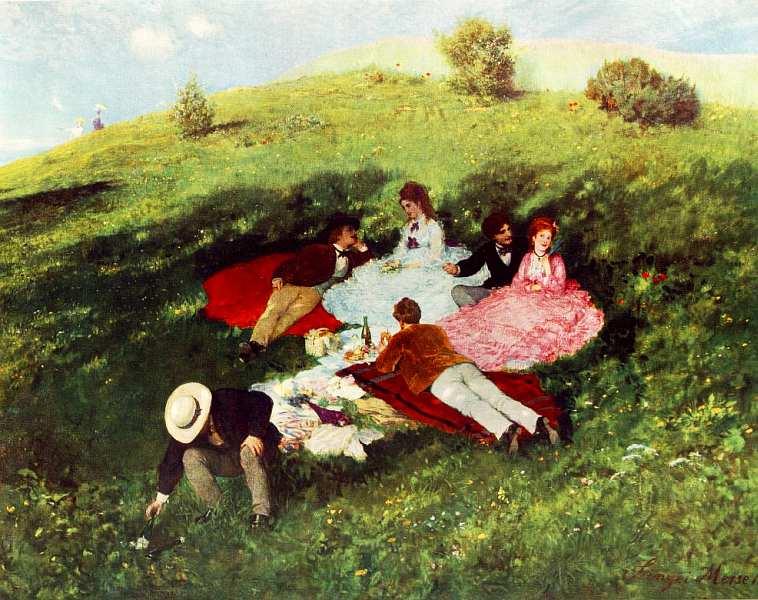 31-Пал Синьеи-Мерше (1845–1920) Майская прогулка (Пикник) 1873.jpg