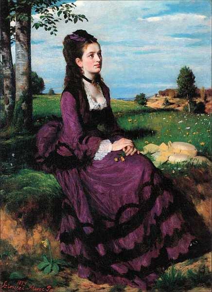 32-Пал Синьеи-Мерше (1845–1920) Дама в лиловом 1874.jpg