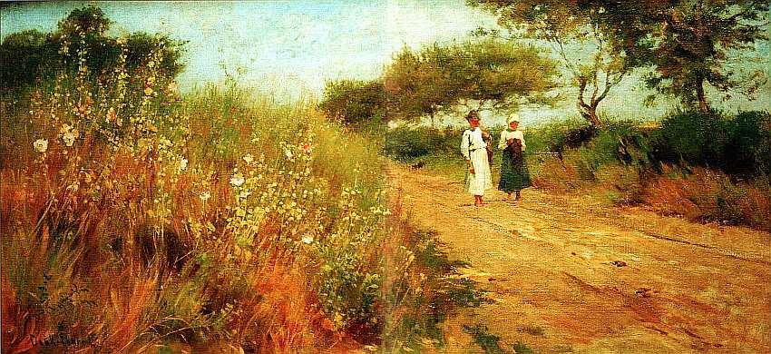35-Лайош Дик-Эбнер (1850–1934) Дорога с диким алтеем. Около 1880.jpg