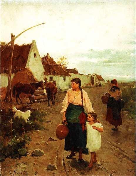 36-Лайош Дик-Эбнер (1850–1934) На краю деревни. Около 1880.jpg