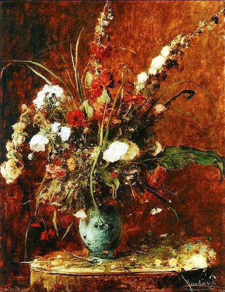 37-Михай Мункачи (1844–1900) Натюрморт с цветами 1881.jpg