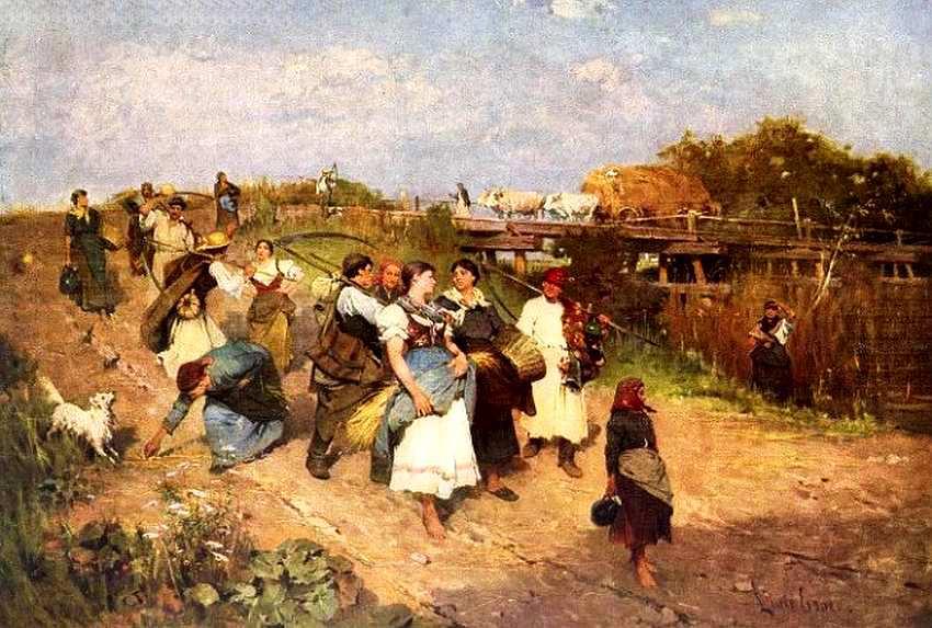 38-Лайош Дик-Эбнер (1850–1934) Возвращение после сбора урожая 1881.jpg