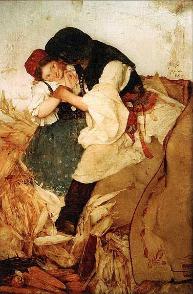 41-Шимон Холлоши (1857–1918) Очистка кукурузы 1885.jpg
