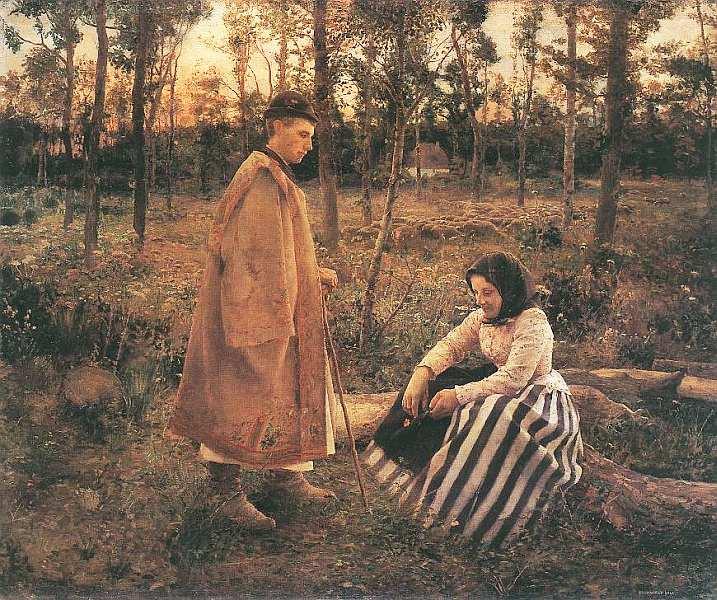 44-Бела Ивани-Грюнвальд (1867–1940) Пастух и крестьянка 1892.jpg