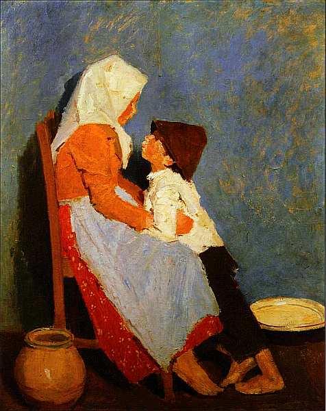 61-Адольф Феньеш (1867–1945) Брат и сестра. Братская любовь 1906.jpg