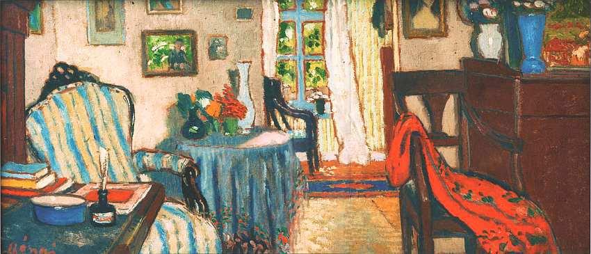 63-Йожеф Рипль-Ронаи (1861–1927) Комната в небольшом городке 1906.jpg