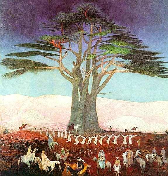 64-Тивадар Костка Чонтвари (1853–1919) Паломничество к ливанским кедрам 1907.jpg