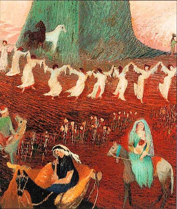 65-Тивадар Костка Чонтвари (1853–1919) Паломничество к ливанским кедрам 1907 (фрагмент).jpg