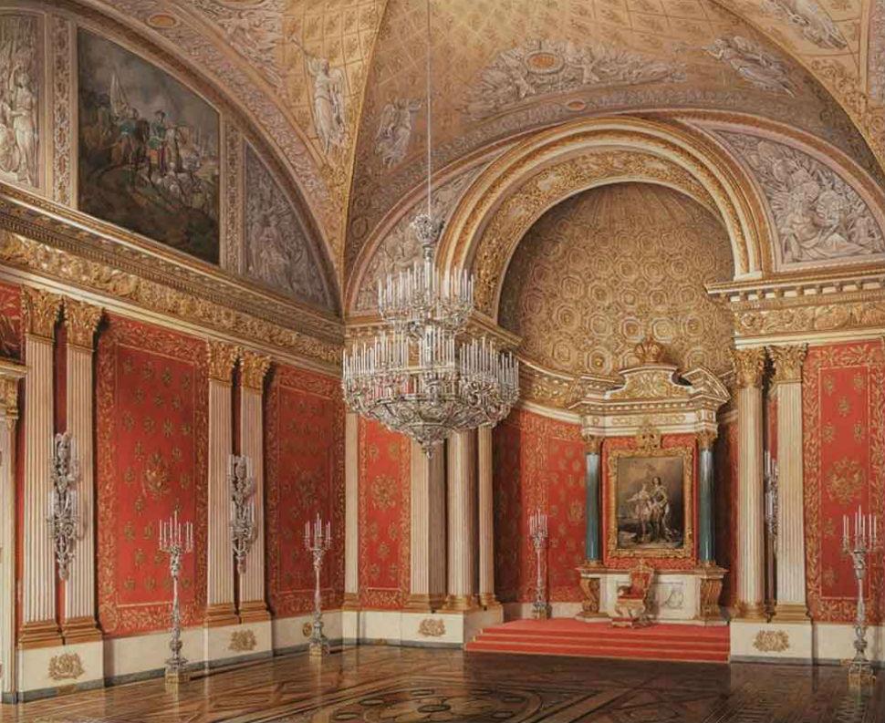 Эдуард Гау - Зимний дворец - Петровский зал.jpg