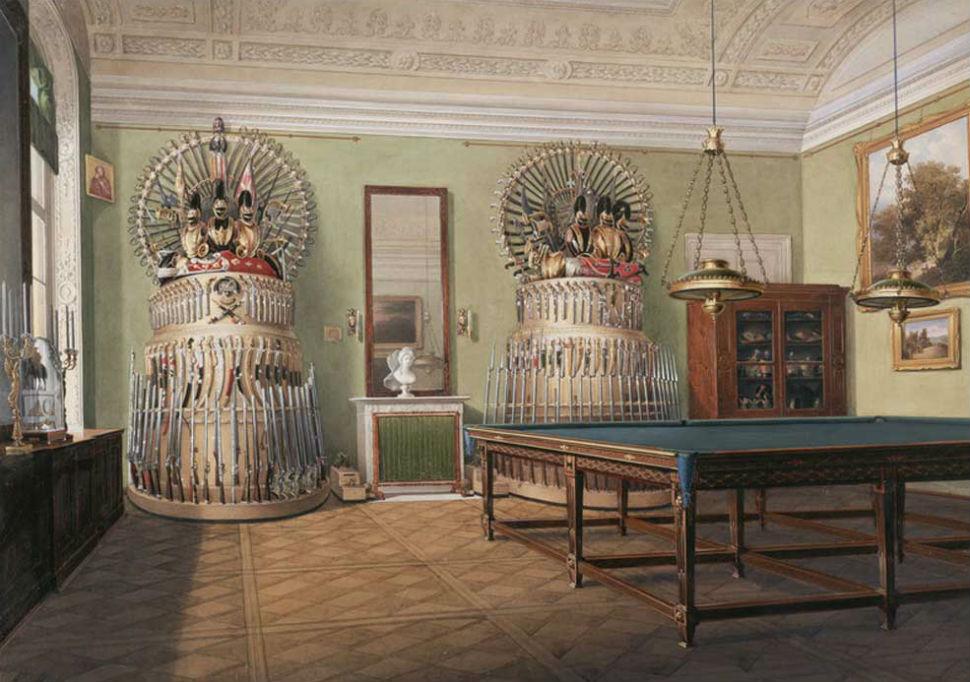Эдуард Гау - Бильярдная комната императора Александра II.jpg