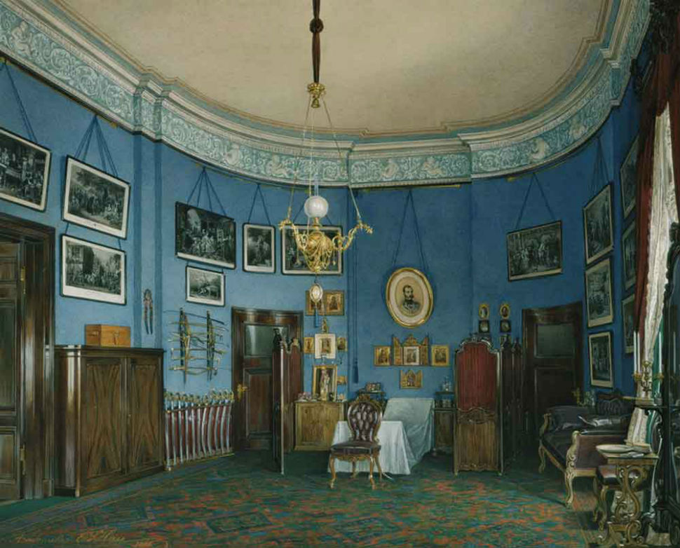 Эдуард Гау - Спальня Великого князя Николая (малый Эрмитаж).jpg