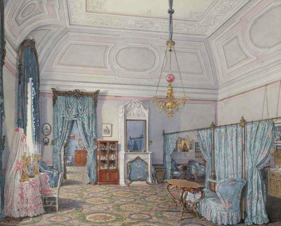 Эдуард Гау - Спальня Великой княгини Марии Александровны.jpg