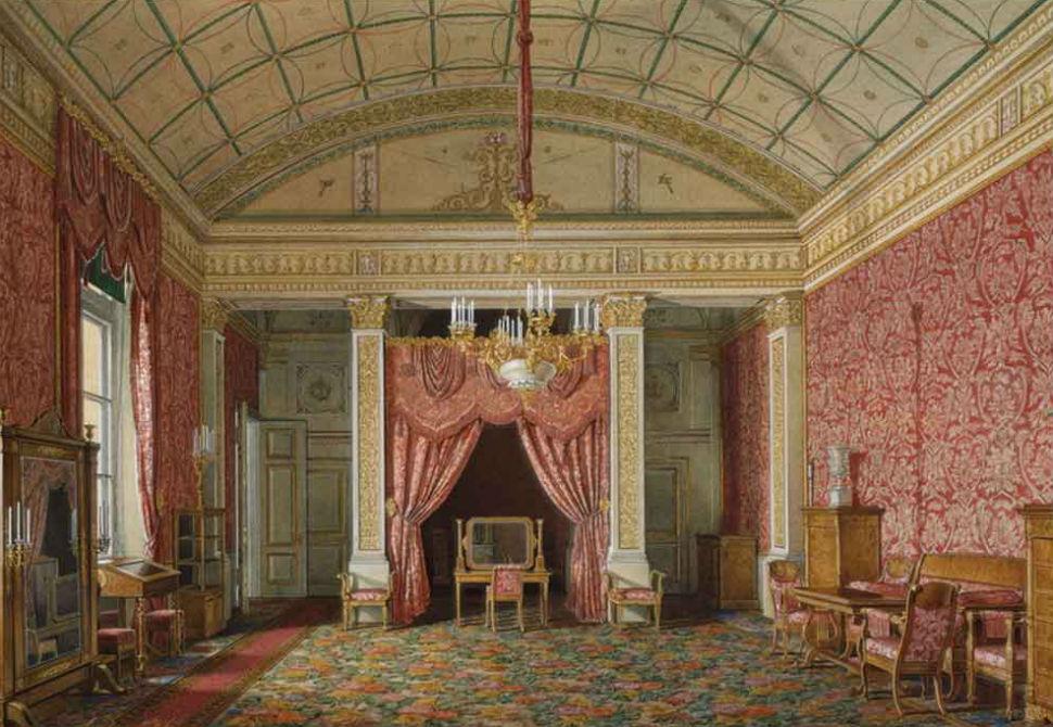 Эдуард Гау - Спальня великой княгини Марии Николаевны.jpg