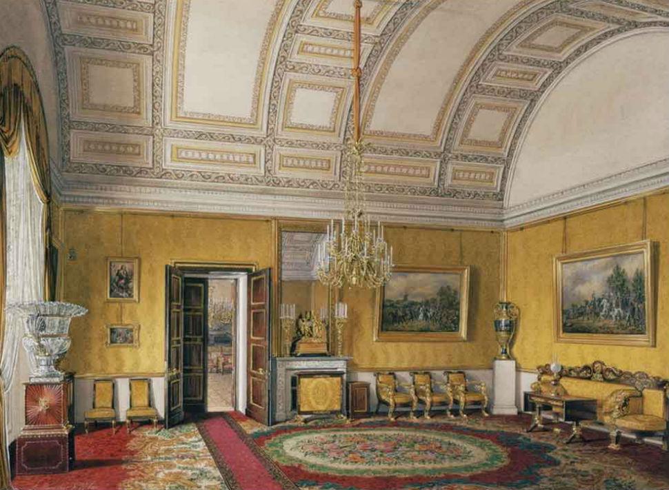 Эдуард Гау - Жёлтый салон Великой княжны Марии Николаевны.jpg