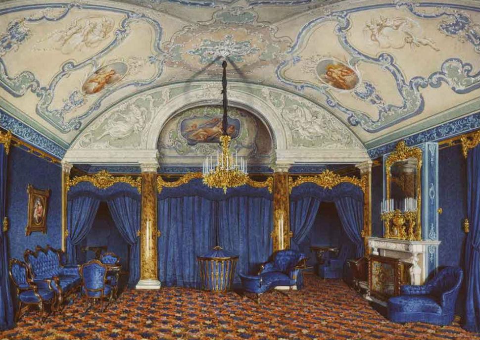 Эдуард Гау - Голубая спальня.jpg