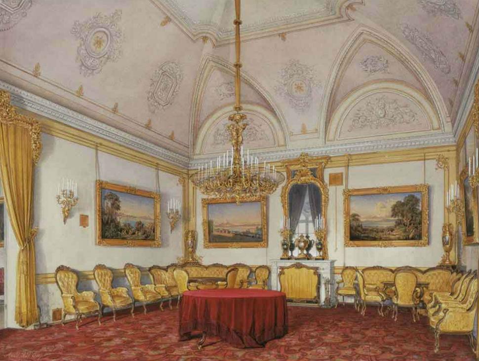 Эдуард Гау - Зимний дворец - гостинная.jpg