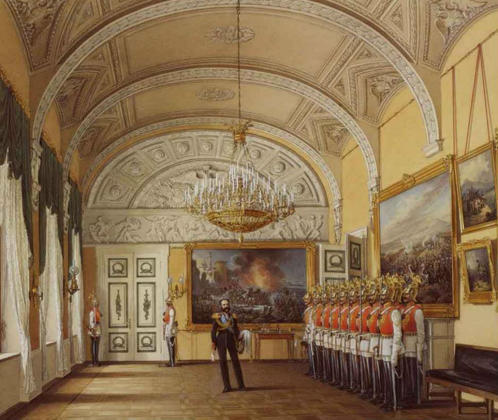 Эдуард Гау - Зимний дворец - караульное помещение.jpg