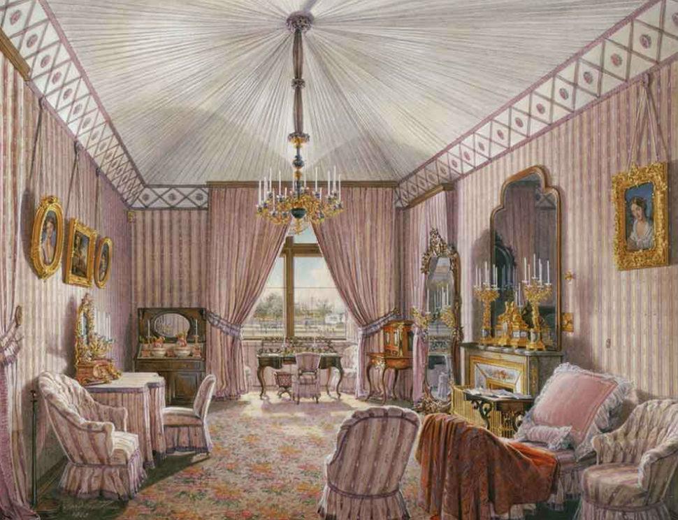Эдуард Гау - Зимний дворец - туалетая комната.jpg