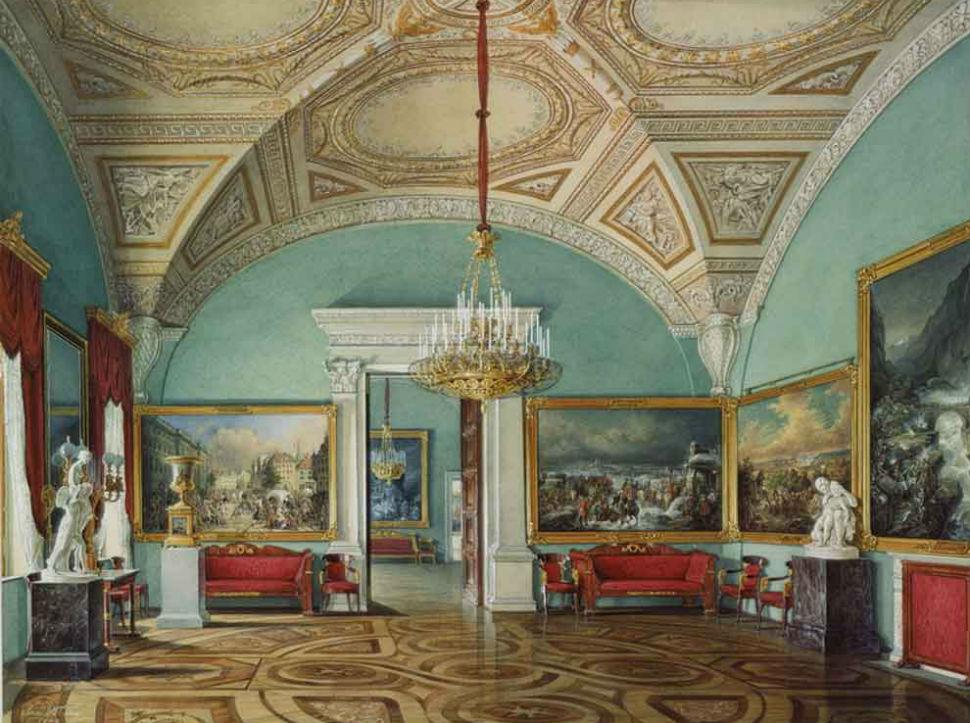 Эдуард Гау - Зимний дворец вторая комната военной галереи.jpg