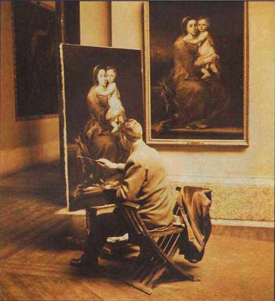 2-Художник, копирующий картину в музее Прадо.jpg