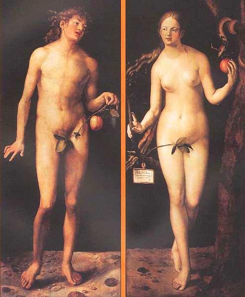 9-Альбрехт Дюрер. Адам и Ева. 1507.jpg