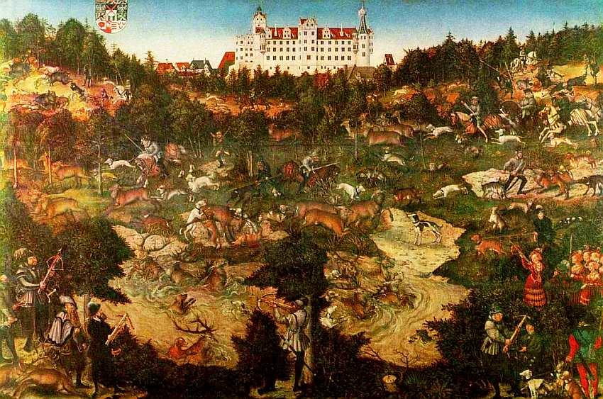 13-Лукас Кранах Старший (1472–1553) Охота на оленей и кабанов 1544.jpg