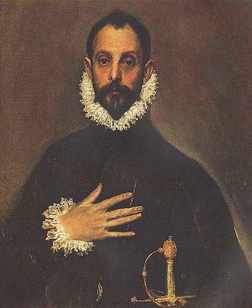 20-Эль Греко. Дворянин с рукой на груди. Около 1580.jpg