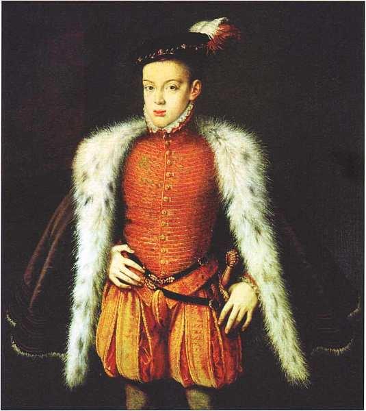 22-Алонсо Санчес Коэльо (около 1531–1588) Портрет инфанта Карлоса 1555–1559.jpg