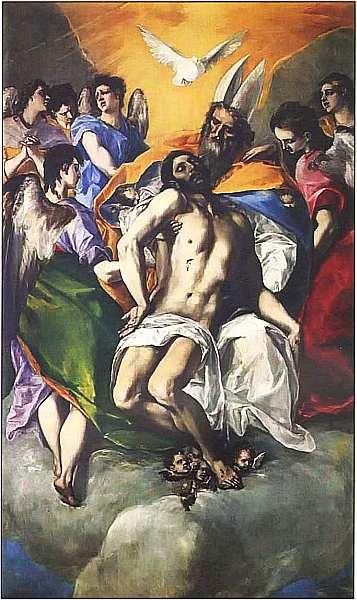 24-Эль Греко (1541–1614) Троица 1577–1579.jpg