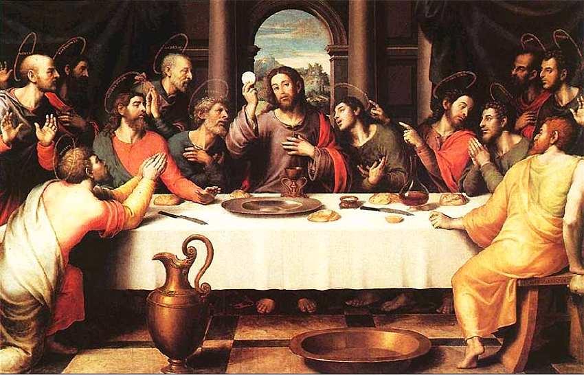 25-Хуан де Хуанес (около 1528–1579) Тайная вечеря. Около 1562.jpg