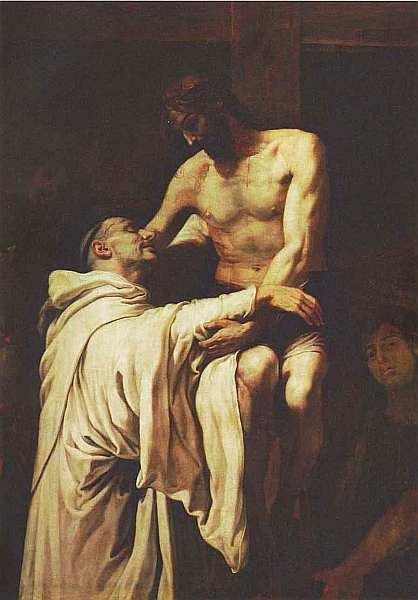 27-Франсиско Рибальта (1565–1628) Святой Бернард, обнимающий Христа Около 1626.jpg