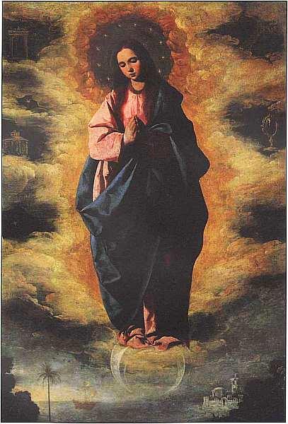 28-Франсиско де Сурбаран (1598–1664) Непорочное зачатие Около 1630.jpg