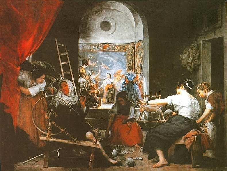 35-Диего Веласкес (1599–1660) Пряхи (Миф об Арахне) Около 1657.jpg
