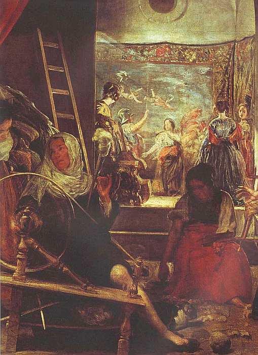 36-Диего Веласкес (1599–1660) Пряхи (Миф об Арахне) Около 1657 (фрагмент).jpg