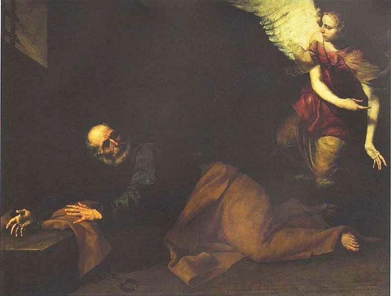 38-Хусепе де Рибера (1591–1652) Освобождение апостола Петра из темницы 1639.jpg
