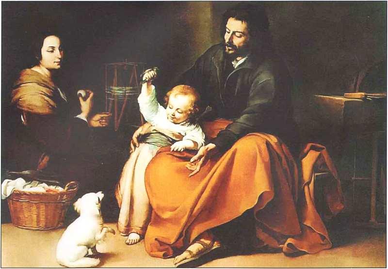 40-Бартоломе Эстебан Мурильо (1617–1682) Святое семейство с птичкой 1650.jpg