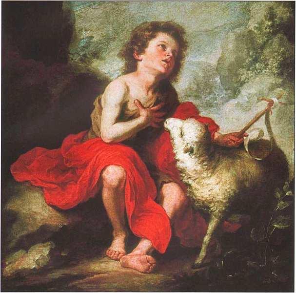 41-Бартоломе Эстебан Мурильо (1617–1682) Иоанн Креститель в детстве 1670–1680.jpg