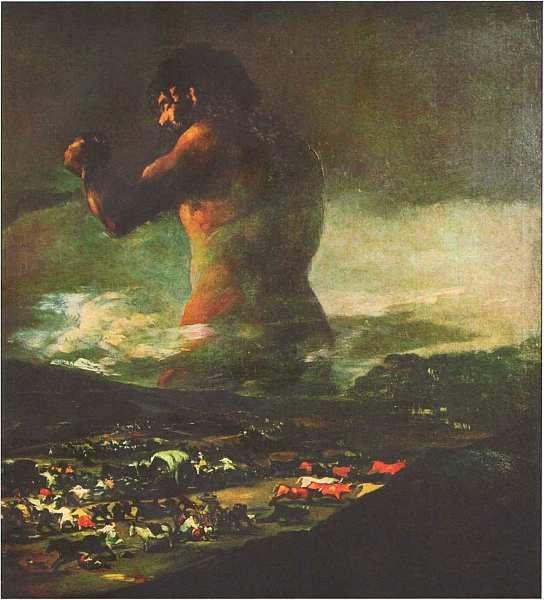 49-Франсиско де Гойя-и-Лусьентес (1746–1828) Колосс (Паника) 1810–1825.jpg