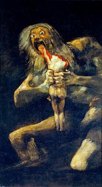 50-Франсиско де Гойя-и-Лусьентес (1746–1828) Сатурн, пожирающий своих детей 1820–1823.jpg