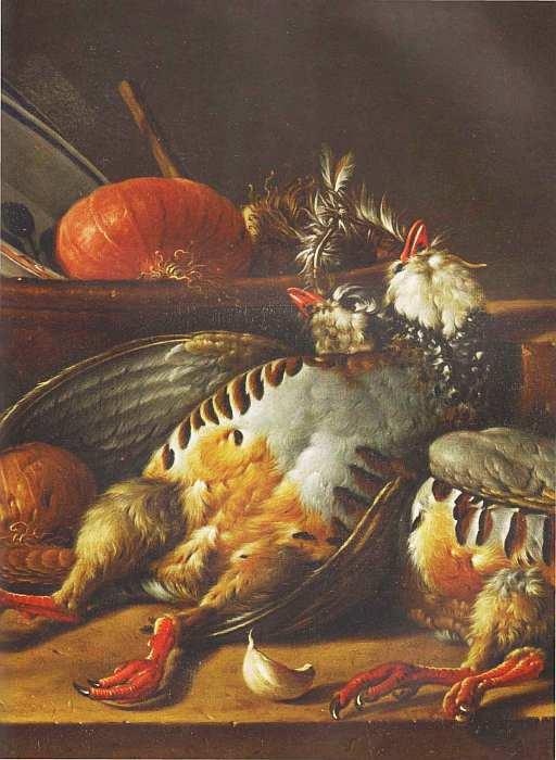 54-Луис Мелендес (1716–1780) Натюрморт с куропатками и посудой Последняя треть XVIII века (фрагмент).jpg