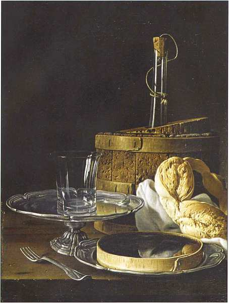 55-Луис Эухенио Мелендес (1716–1780) Натюрморт с кренделем 1770.jpg