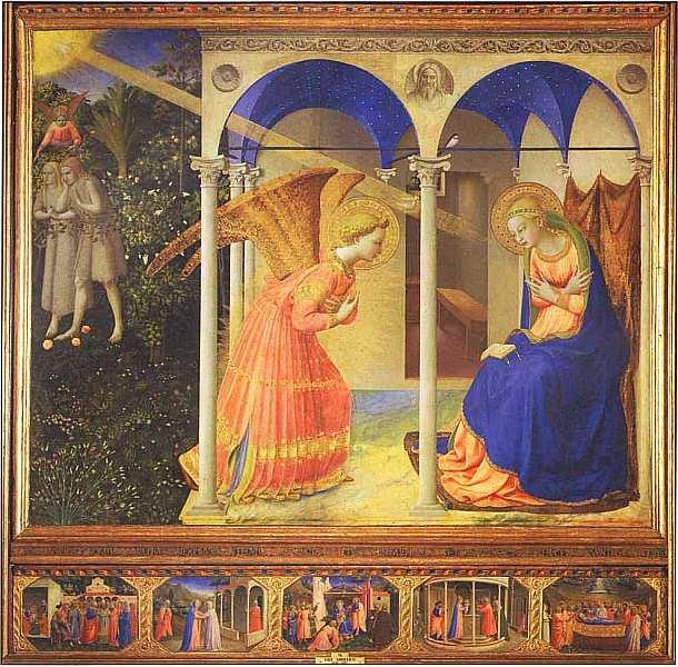 57-Фра Анджелико (1400–1455) Благовещение Около 1426.jpg
