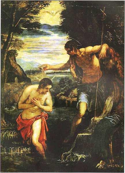 63-Якопо Тинторетто (1518–1594) Крещение Христа. Около 1585.jpg