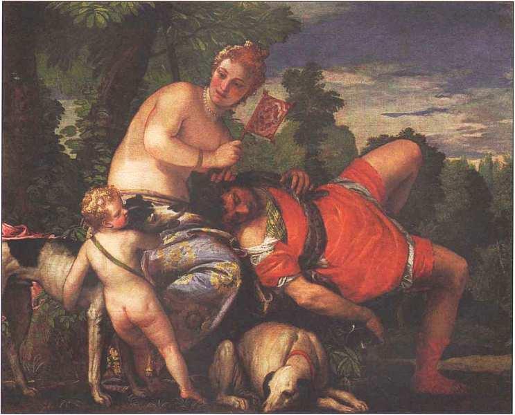 65-Паоло Веронезе (1528–1588) Венера и Адонис Около 1580.jpg