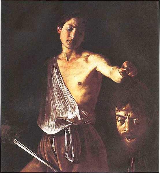 66-Микеланджело Меризи де Караваджо (15711573-1610) Давид и Голиаф. Около 1600.jpg