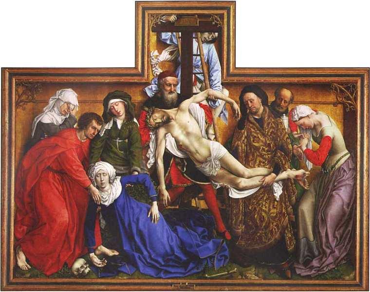 72-Рогир ван дер Вейден (около 1400–1464) Снятие с креста.jpg