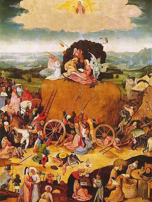75-Иероним Босх (около 1460–1516) Воз сена 1516 (средняя часть).jpg