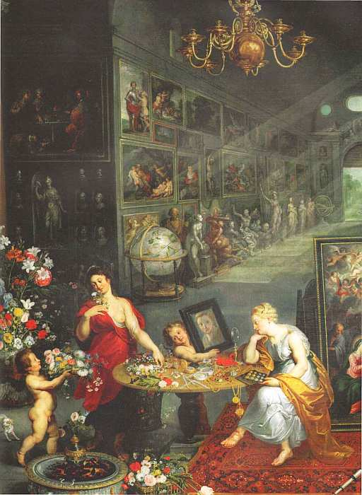 83-Ян Брейгель Старший (Бархатный) (1568–1625) Аллегория Зрения 1617 (фрагмент).jpg