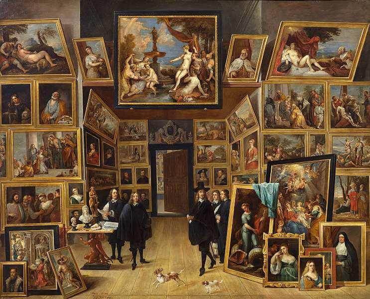 84-Давид Тенирс Младший (1610–1690) Эрцгерцог Леопольд Вильгельм в своей галерее в Брюсселе 1647–1651.jpg