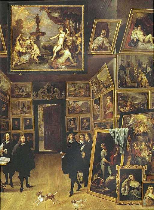 85-Давид Тенирс Младший (1610–1690) Эрцгерцог Леопольд Вильгельм в своей галерее в Брюсселе 1647–1651 (фрагмент).jpg